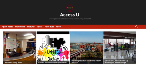 Screenshot of Access U website